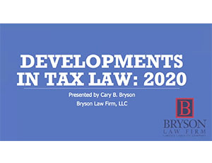Development in tax law thumbnail