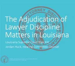 lba - adjudication of lawyer didcipline