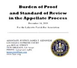 lba - burden of proof