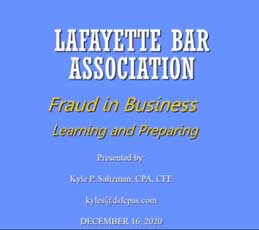 lba - fraud in business
